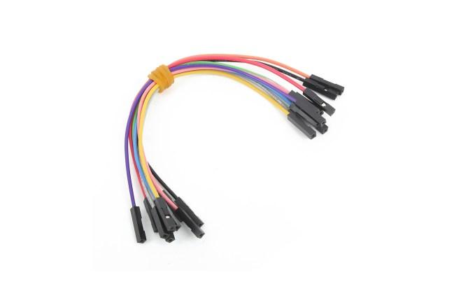 A product image for Cavaliers de câble femelle à femelle 10 pièces