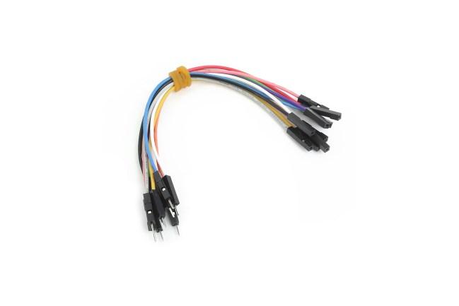 A product image for Cavaliers de câble mâle à femelle 10 pièces