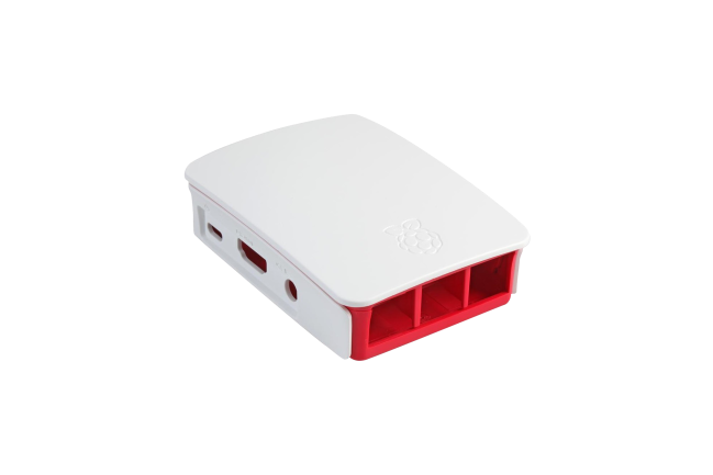 A product image for Boîtier officiel de Pi 3 – Rouge/Blanc