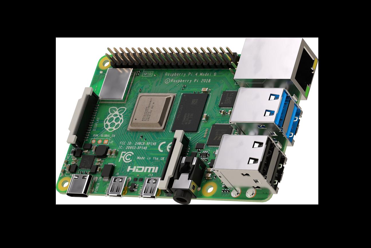 Carte mère Raspberry Pi 4 avec 4GB de SDRAMLPDDR4