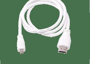 Câblemicro-HDMI vers mâle standardRaspberry Pi (blanc 1m)