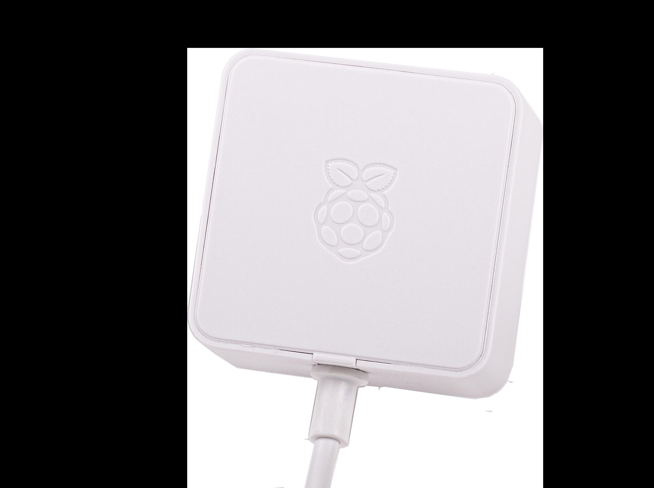 Adaptateur secteurRaspberry Pi 5,1V/3A USB-C (UE, blanc)