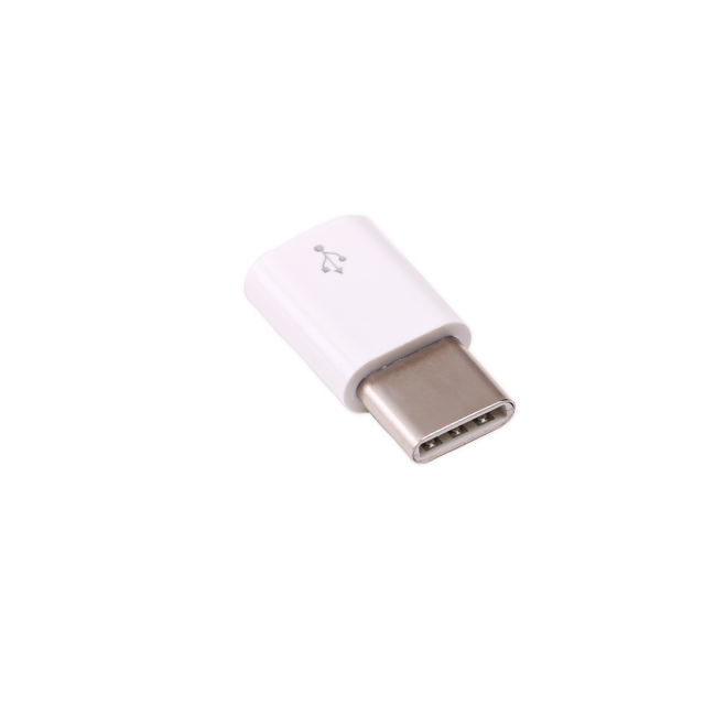 A product image for Adaptateur officiel micro-USB-B / USB-C Raspberry Pi (blanc)