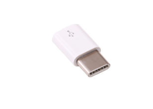 Adaptateur officiel micro-USB-B / USB-C Raspberry Pi (blanc)