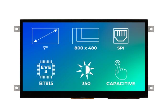 A product image for Riverdi Ritft-70-Cap-Fr, 7 Inches Tft Display