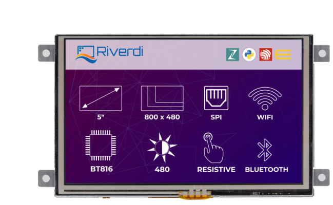 A product image for Riverdi Ritft-50-IoT-Res, High-Quality 5 Inches