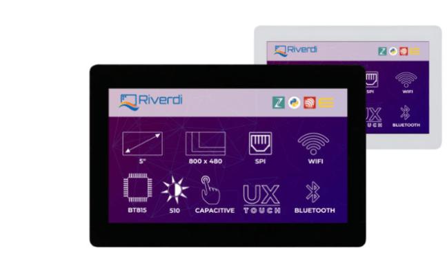 A product image for Riverdi – RiTFT-50-IOT-UX, haute qualité d'affichage 5 pouces – RVT50UQENWC01