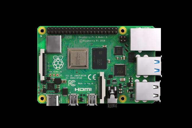 A product image for Carte mère Raspberry Pi 4 avec 2 GB de SDRAMLPDDR4