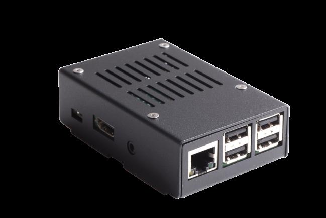 A product image for KKSB Raspberry Pi Metal Case Model 3 (Black)