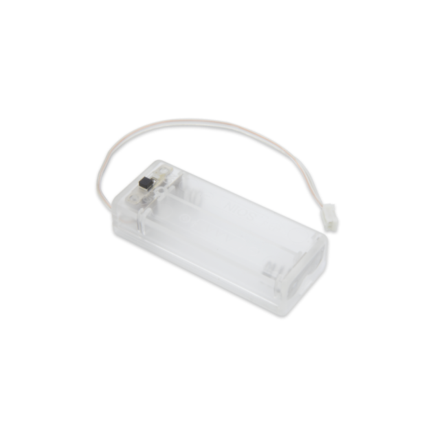 A product image for Bloc-batterie transparent PI Supply 2 x AAA pour micro:bit