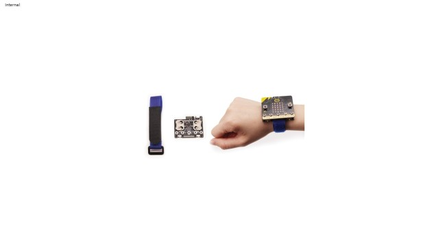 A product image for BitWearable Kit – smartwatch with strap for micro:bit