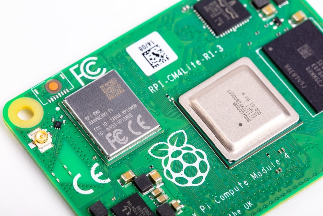 A product image for Raspberry Pi Compute Module 4 with WiFi 2GB RAM Lite