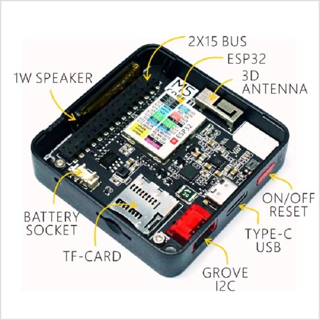 A product image for ESP32 Basic Core IoT Development Kit
