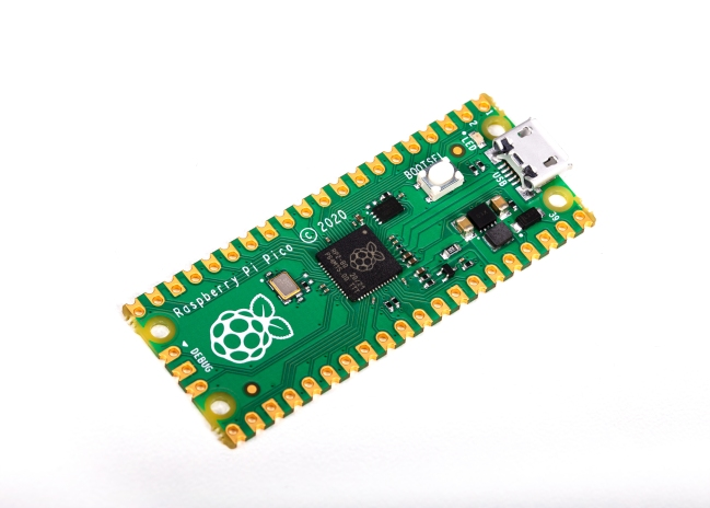 A product image for Raspberry Pi Pico RP2040 Microcontroller Board