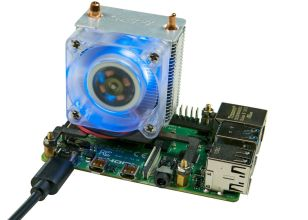ICE-Tower CPU Cooling Fan with RGB LED for Raspberry Pi 4B/3B+/3B