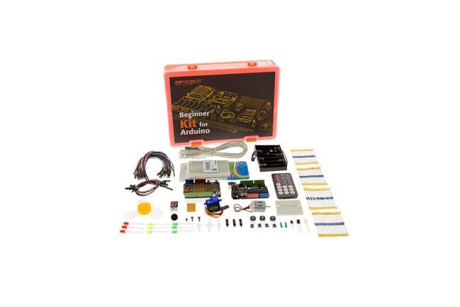 A product image for Arduino Kit per principianti conDFRduino Uno R3