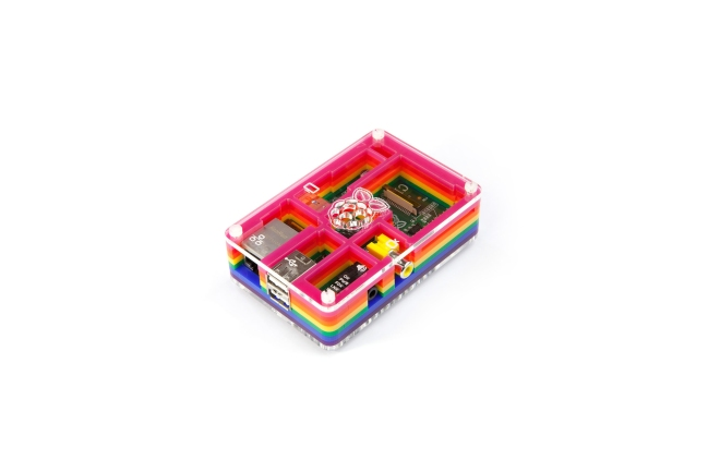 A product image for CASE PIBOW RAINBOW RASPBERRY PI