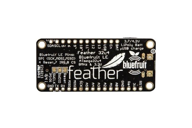 A product image for Adafruit Feather ATmega32u4 Bluefruit LE