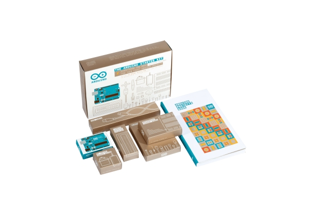 A product image for Arduino Starter Kit con scheda UNO