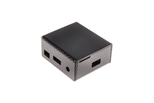 A product image for CASE RASPBERRY PI A+, FIBRA DI CARBONIO