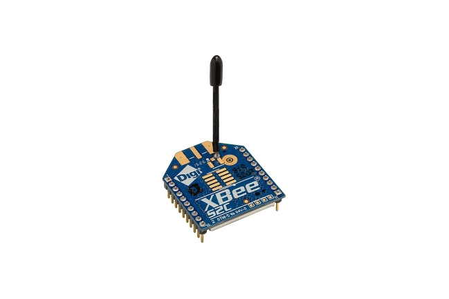 A product image for Modulo RF XBee ZigBee, Antenna a filo (TH)