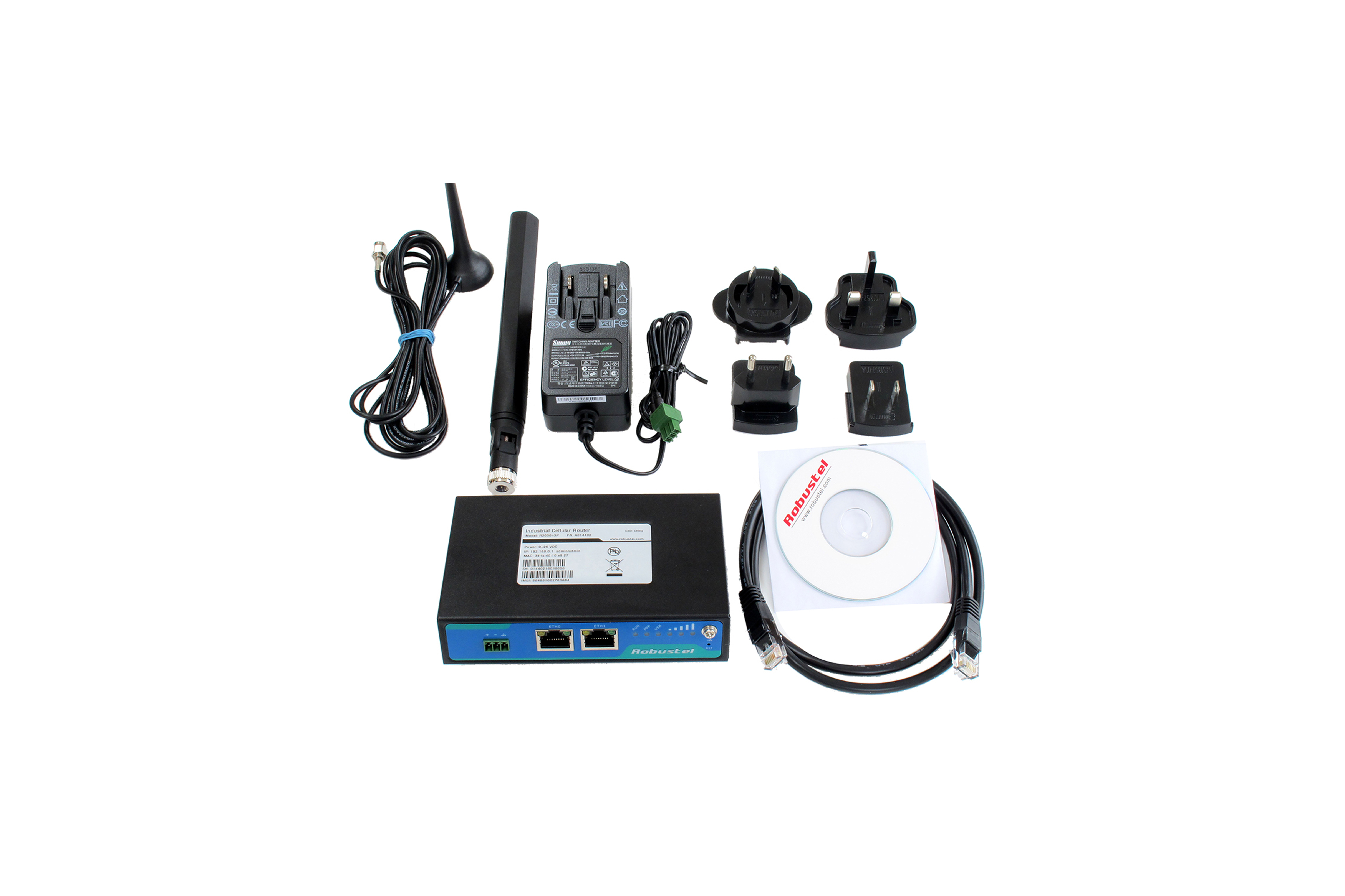 KIT BASE MODEMROUTER R2000 INDUSTRIALE