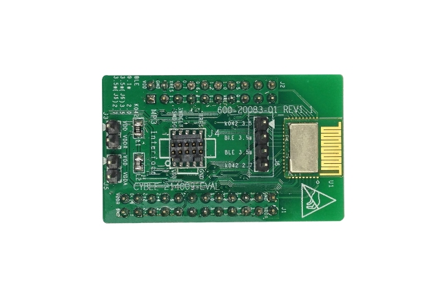 A product image for Scheda di valutazione BLE PSoC CYBLE-214009