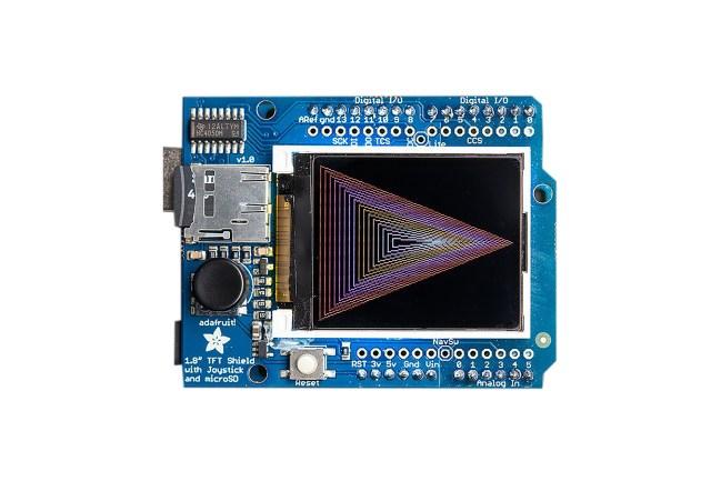 A product image for Scudo display TFTa coloriAdafruit 1.8