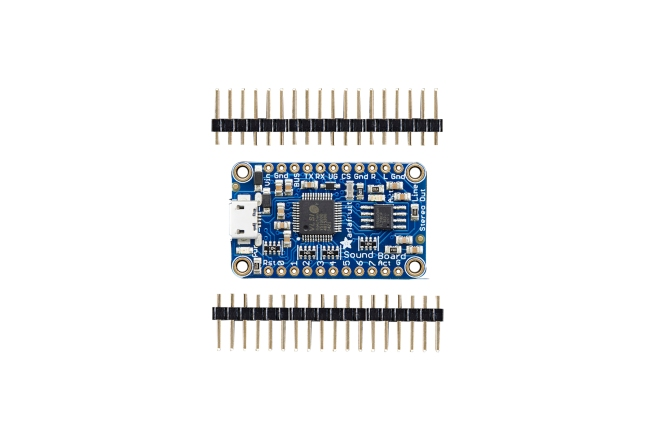 A product image for SCHEDA AUDIO FXAUDIOADAFRUIT MINI 2MB