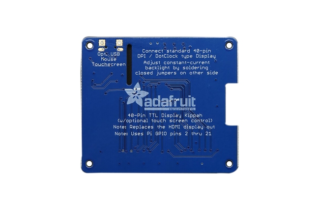 A product image for ADAFRUIT DPI TFT KIPPAH PER RASPBERRY PI