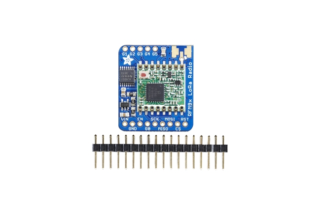 A product image for Scheda ricetrasmittente LoRa Adafruit 433 MHz