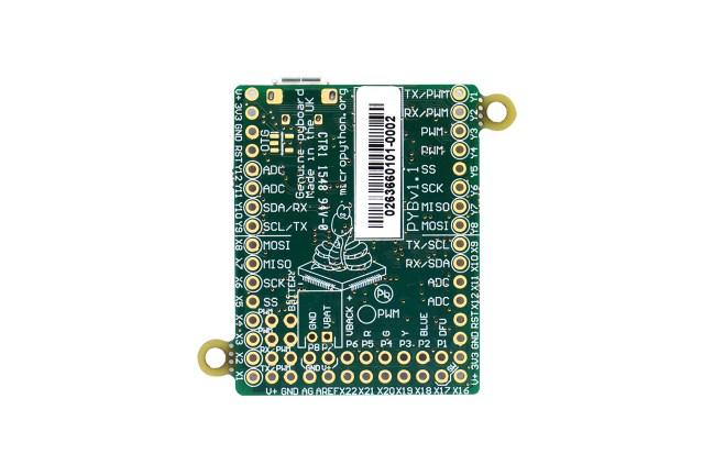 A product image for MicroPython Pyboard Tastiera di sviluppo V1.1