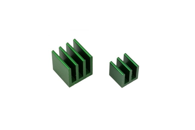 A product image for KIT DISSIP DI CALORE RASPBERRY PI – VERDE