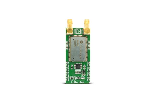 A product image for Scheda ricetrasmettitoreLoRaClick 433/868MHz