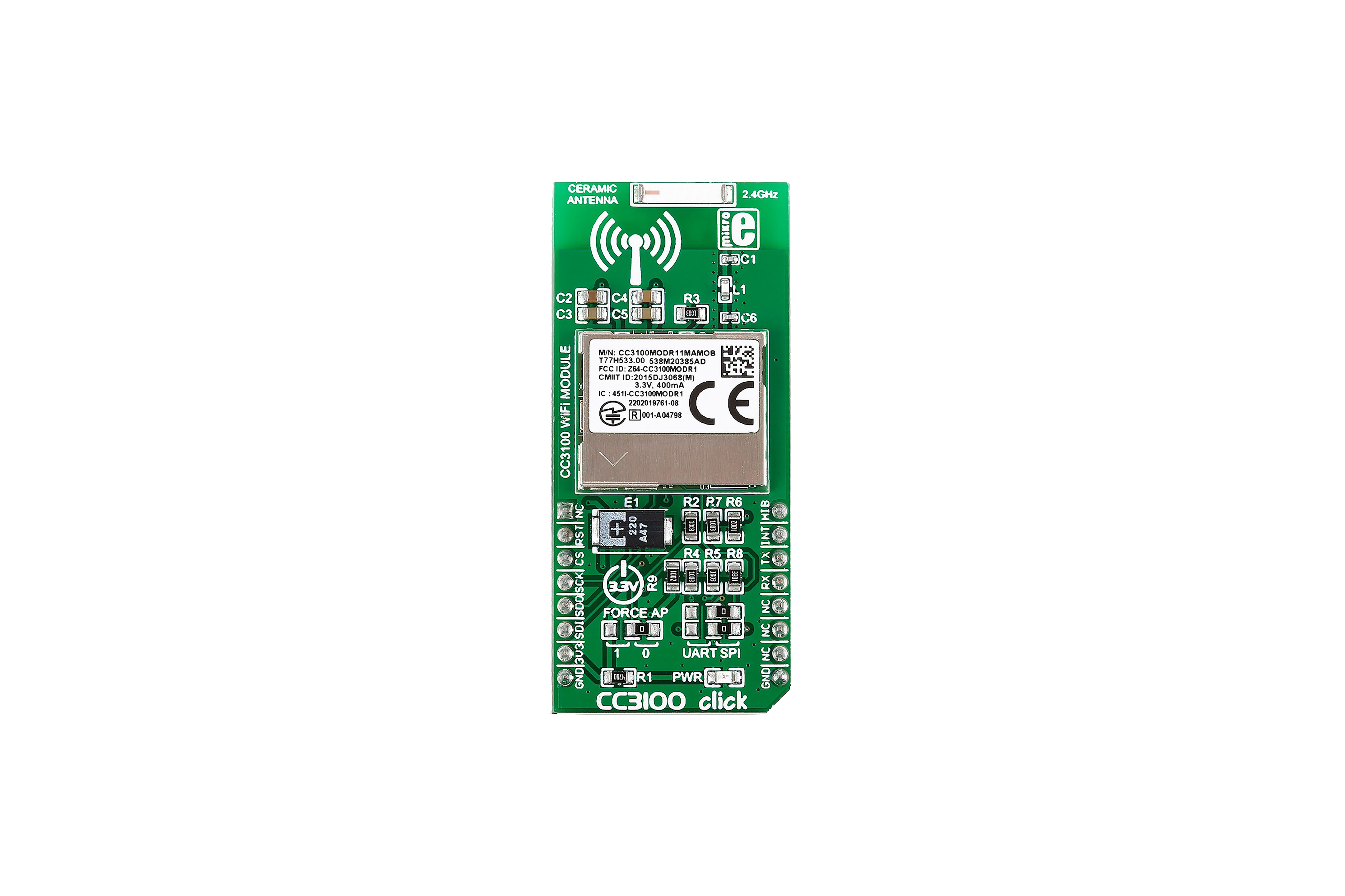 CC3100 CLIC WIFI IOT BOARD, MIKROE-2336