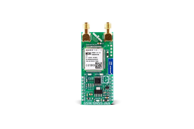A product image for CLICK BOARD MIKROE GSM/GNSS, MIKROE-2439