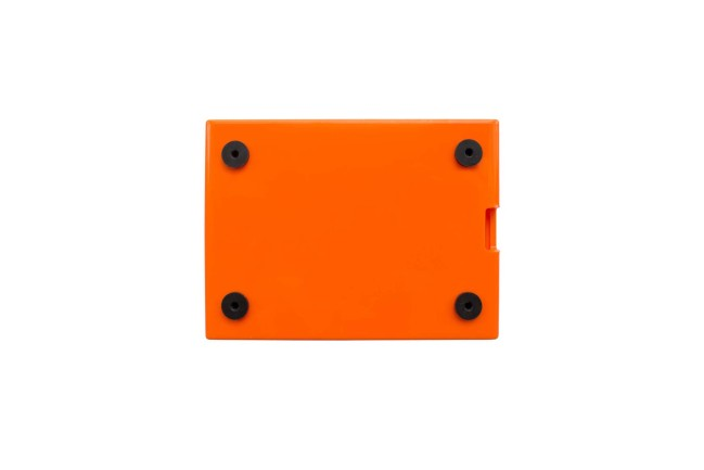 A product image for CASE FLICKHAT – ARANCIO/BIANCO