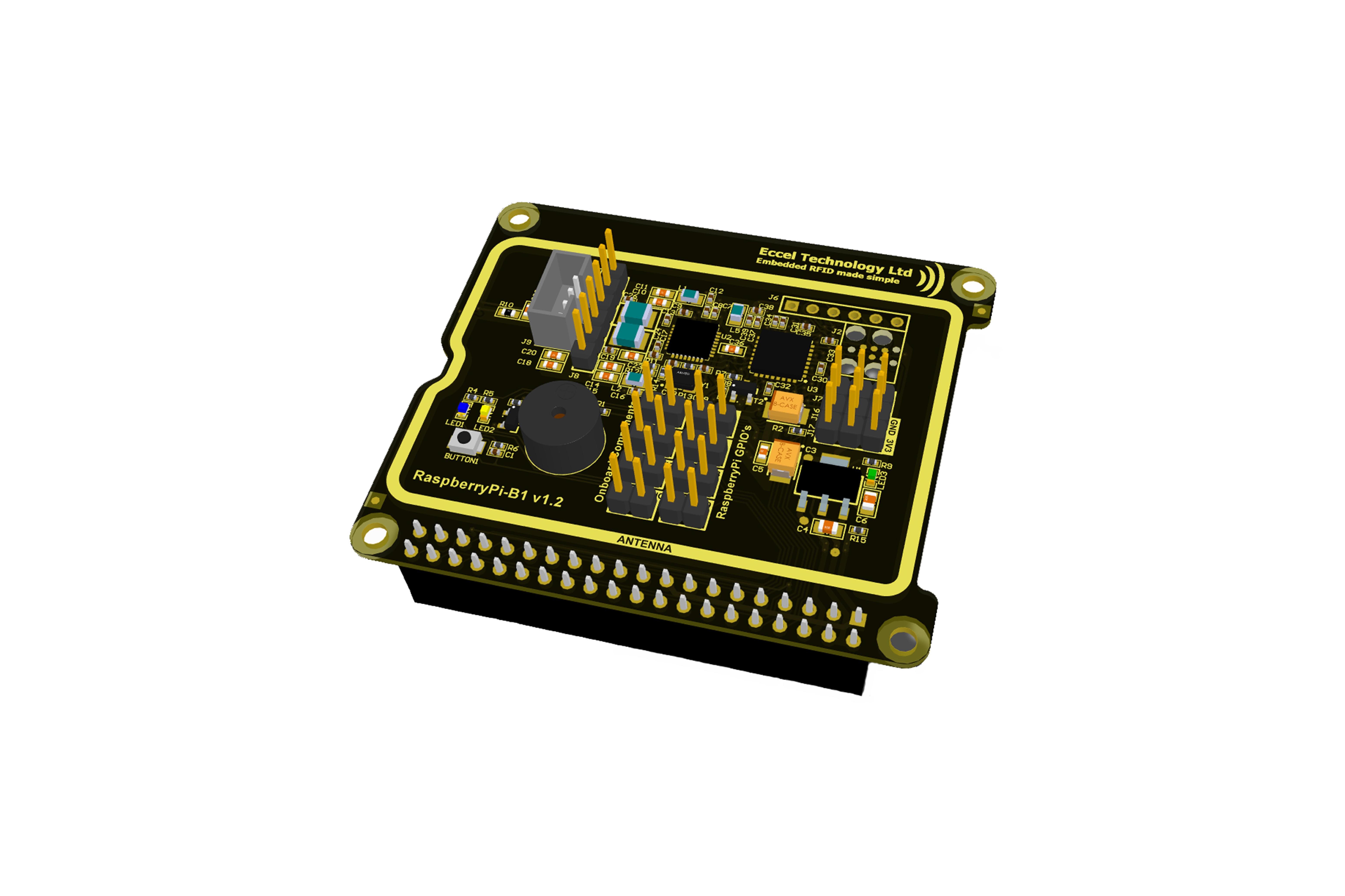Scheda RFIDNFCHatRaspberry Pi