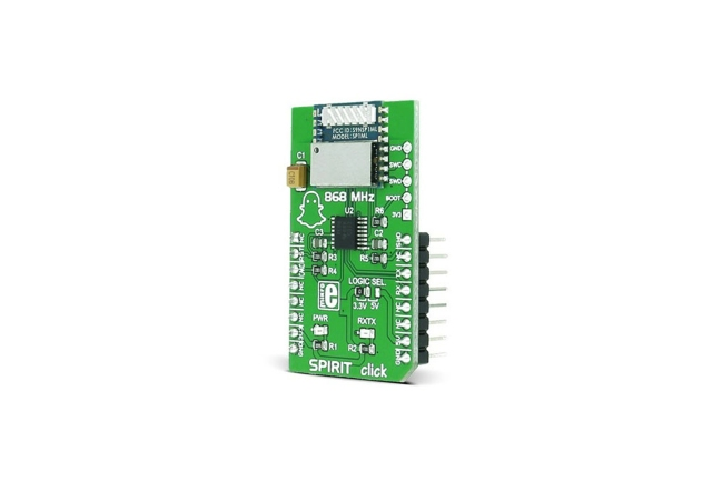 A product image for MIKROE SPIRIT CLICK RF BOARD, MIKROE-2568