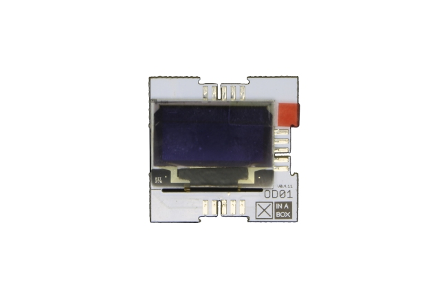 A product image for XinaBox OD01, modulo OLED 128×64 con SSD1306