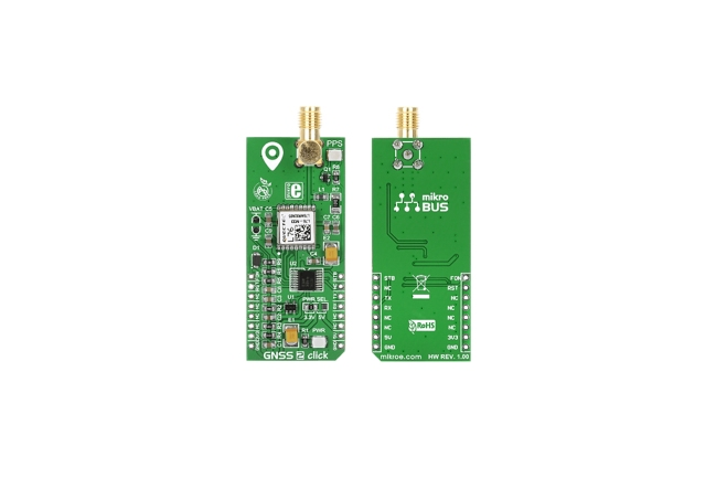 A product image for MikroElektronika GNSS2 GPS mikroBus Click Board per L76