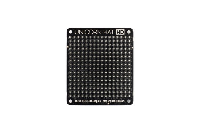 A product image for MATRICE UNICORN HAT HD LED RGB PER PI