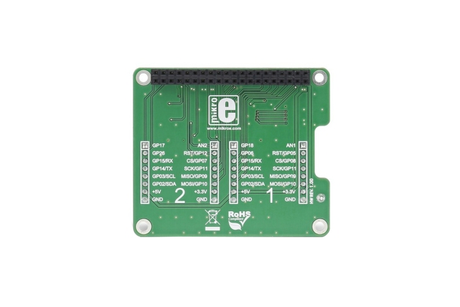 A product image for Scudo click Raspberry Pi
