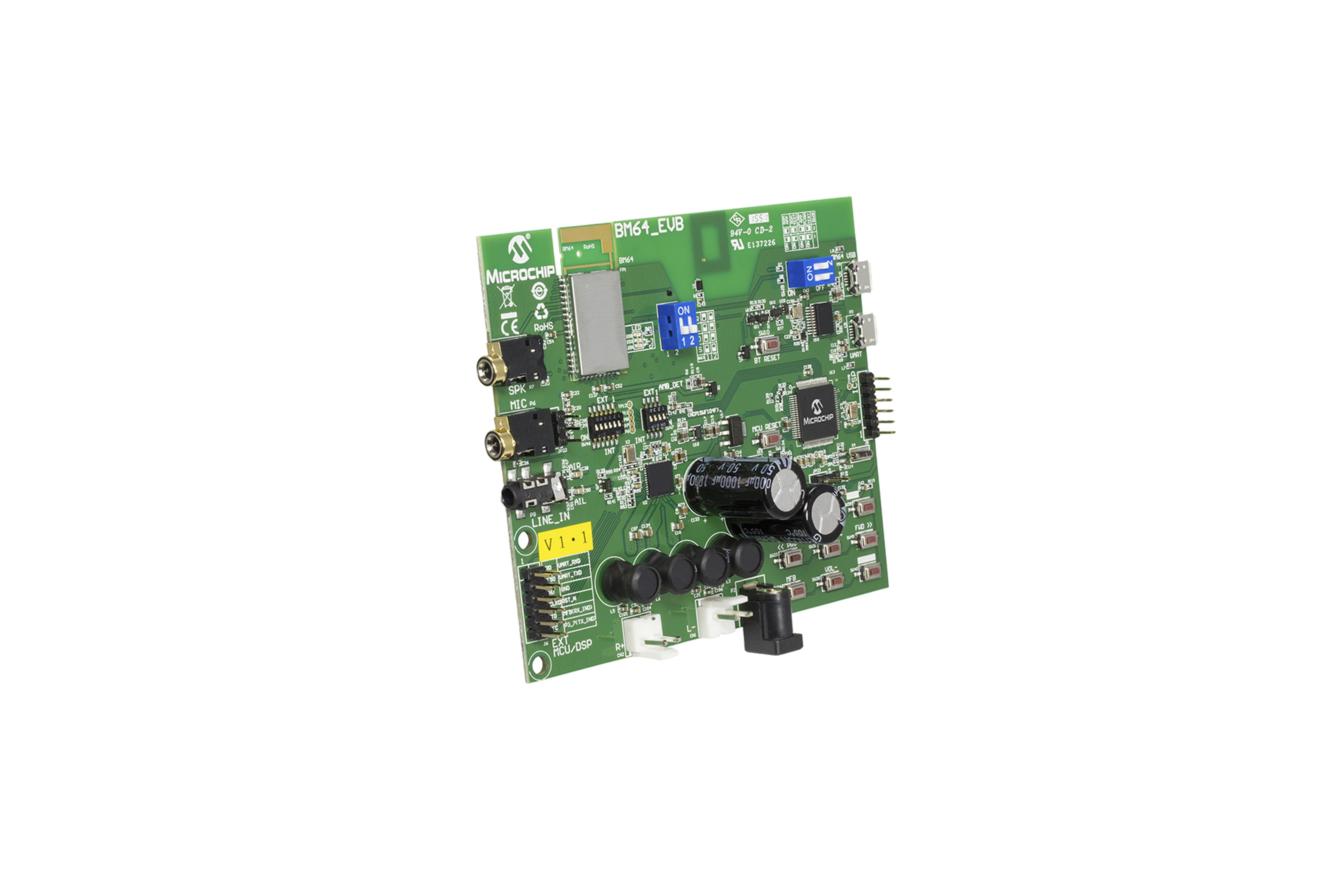 Scheda di valutazione audio Bluetooth BM64 Classe 2