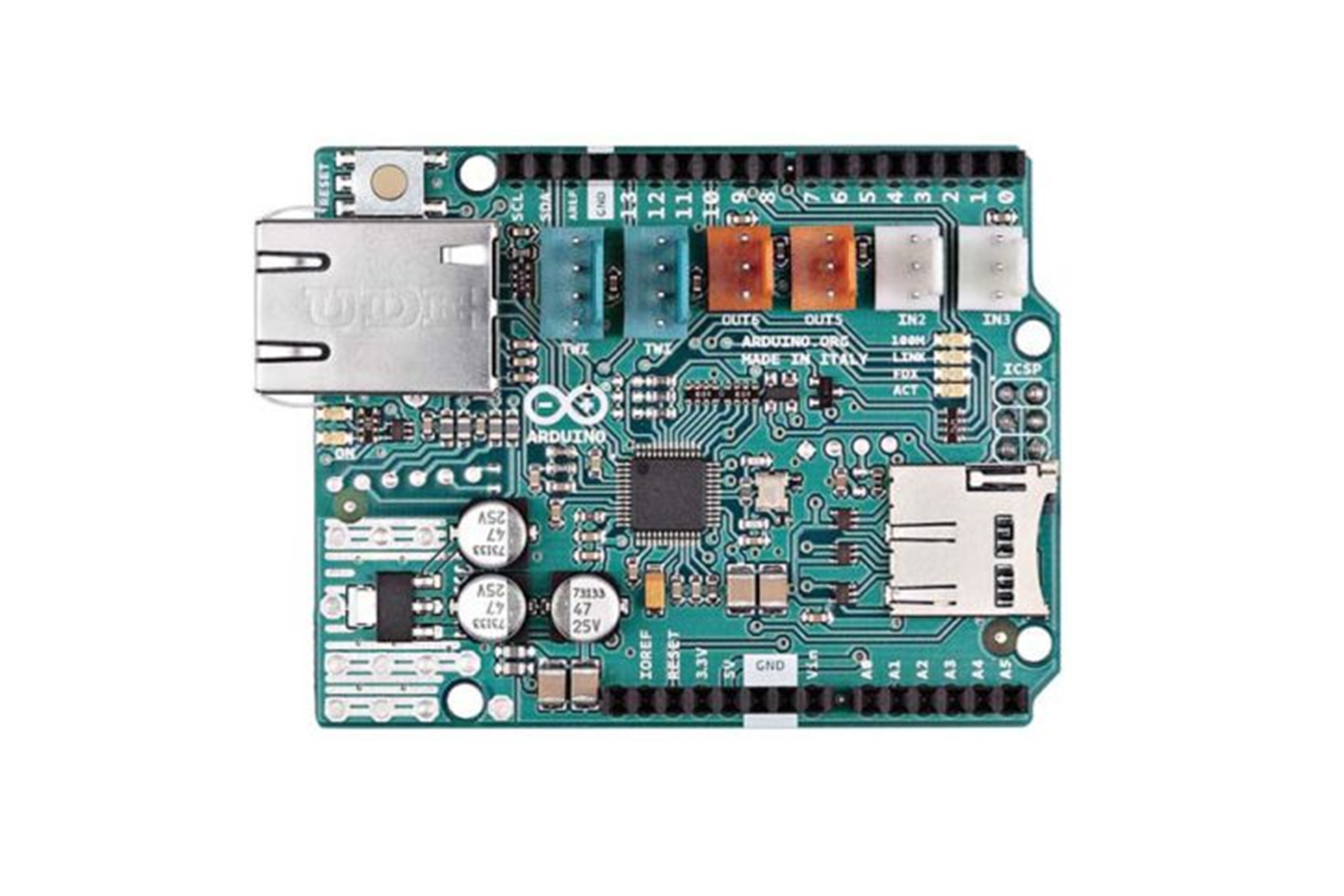 Arduino Ethernet shield 2 senza POE
