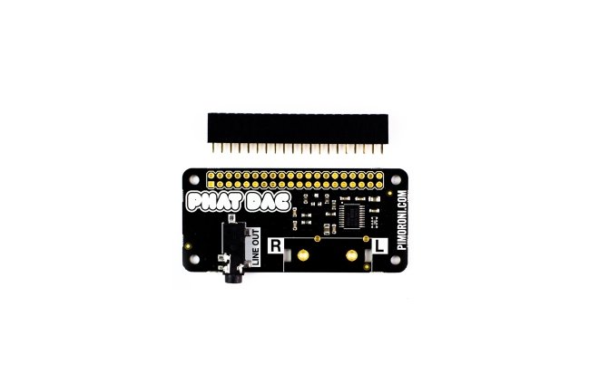 A product image for PHAT DAC 192KHZ AUDIO PER RASPBERRY PI