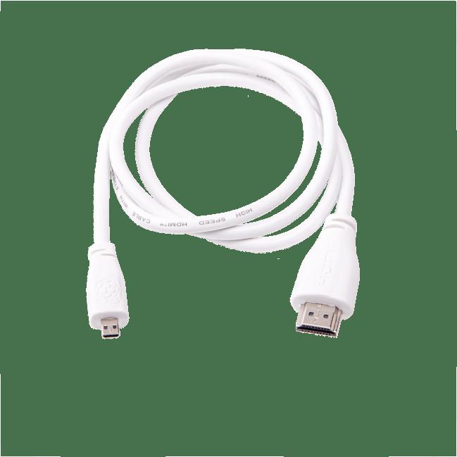 Cavo originale 1m bianco Raspberry Pi micro-HDMI/standard-M