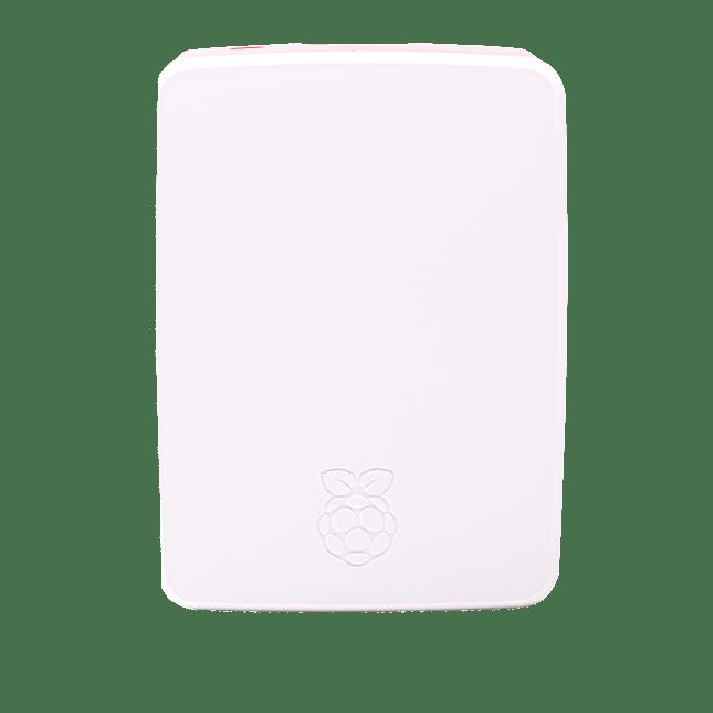 A product image for Case originale Raspberry Pi 4 in colorazione rosso/bianco