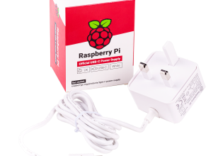 Alim. originale bianco Raspberry Pi 5,1V/3A con USB-C per UK