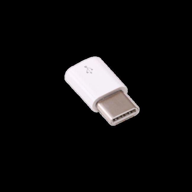 Adattatore originale Raspberry Pi micro-USB-B/USB-C bianco